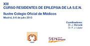 XIII Curso de Epilepsia para Médicos Residentes