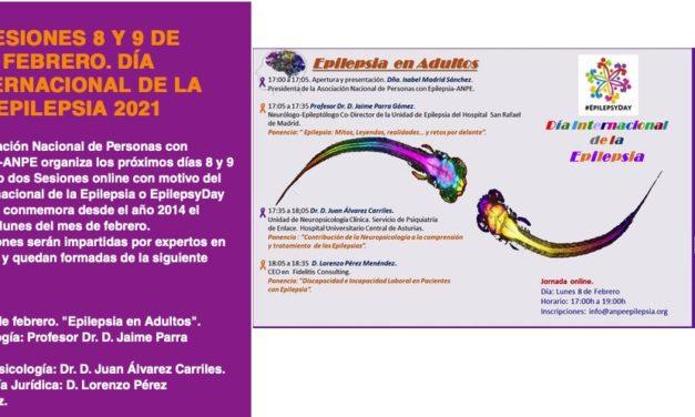 Lunes 8 de febrero 2021: Día Internacional de la Epilepsia